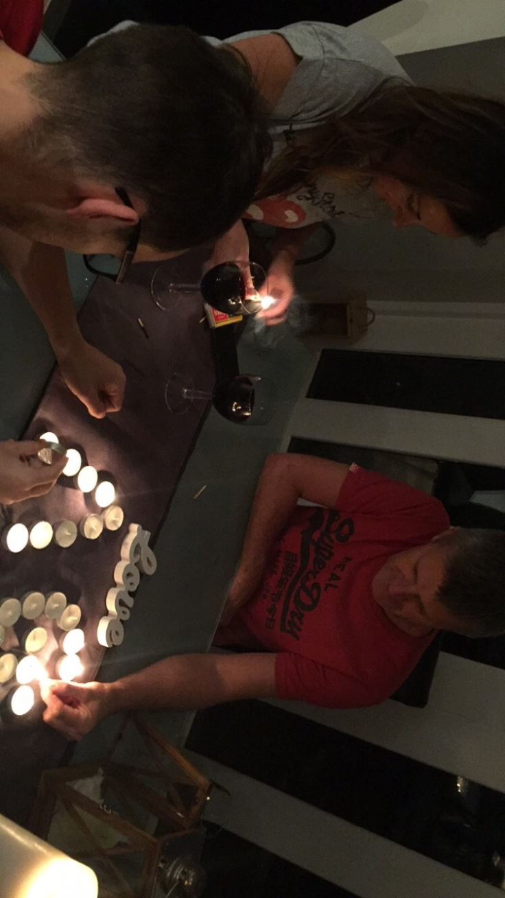 Lighting candles for our stillborn Avery on stillbirth awareness week